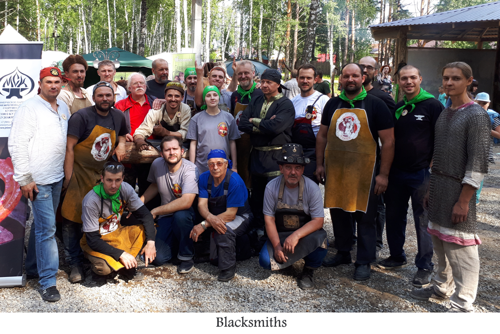 All the blacksmith from the Festival of the Axe 2018